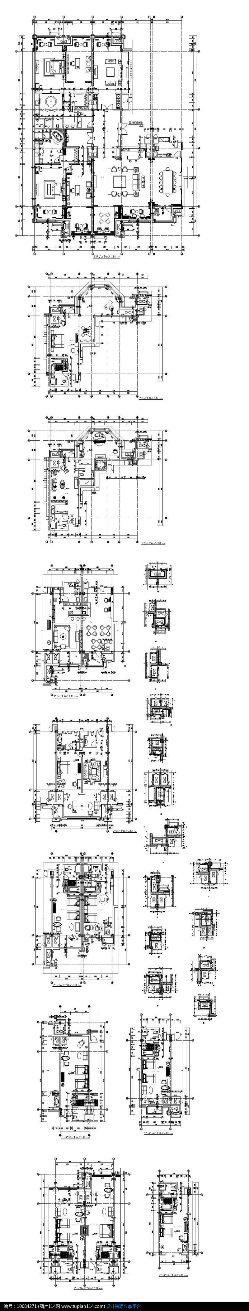 酒店商业客房平面图