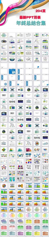 工作计划业绩报告商务PPT图表模板图片下载