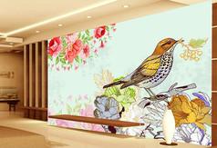 欧式树叶墙纸花纹定制家具设计v树叶图片