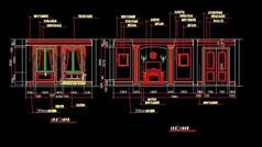 欧式别墅卧室立面设计图纸