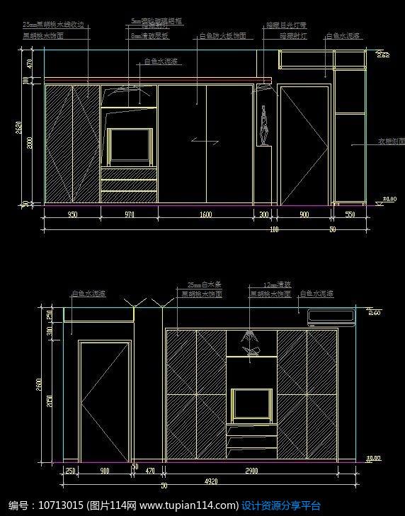墙面造型设计图纸,cad室内装修图免费下载,cad住宅