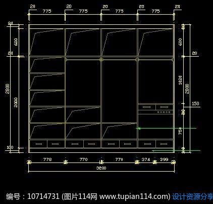 [原创] 卧室衣柜内部设计图