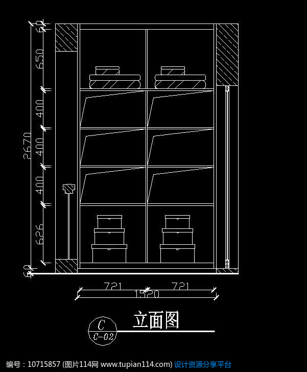 [原创] 小型衣柜内部设计图