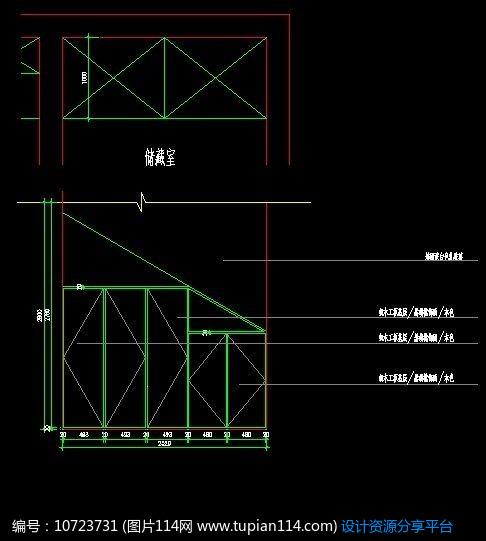 [原创] 阁楼储藏室柜子设计图纸