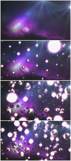 星空外星金属球汇聚视频素材