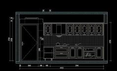 欧式厨房橱柜设计图纸