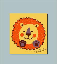 韩国可爱卡通小狮子记事本封面