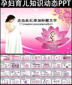 孕妇育儿知识培训讲座胎教ppt模板