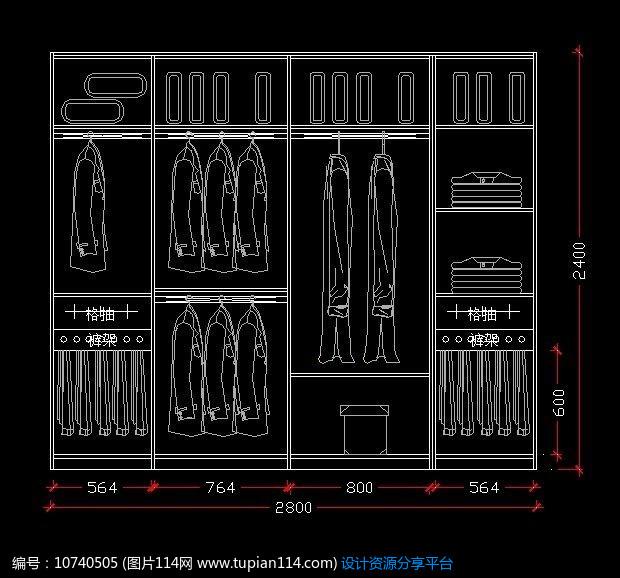 规划合理的衣柜设计图纸