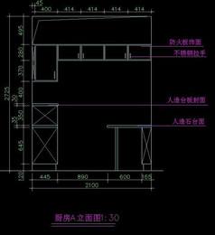 厨房橱柜设计图纸