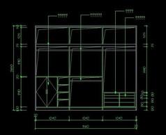 书桌书柜内部结构图
