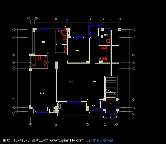 [原创] 小户型原始框架结构图