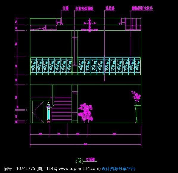 [原创] 别墅楼梯设计图纸
