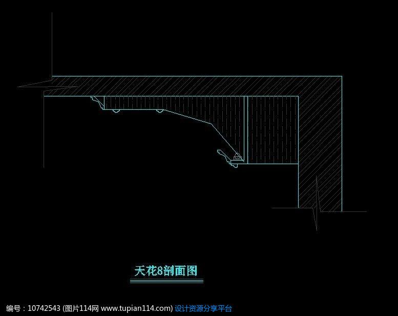 [原创] 天花吊顶造型立面图