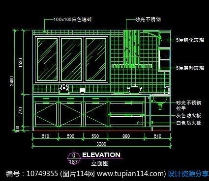 欧式风情橱柜材料立面设计图,cad室内装修图免室内设计新型的厨房有什么区别图片