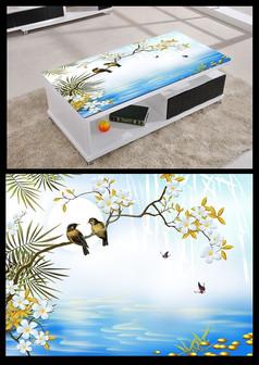 3D立体大海风景桌面背景模板