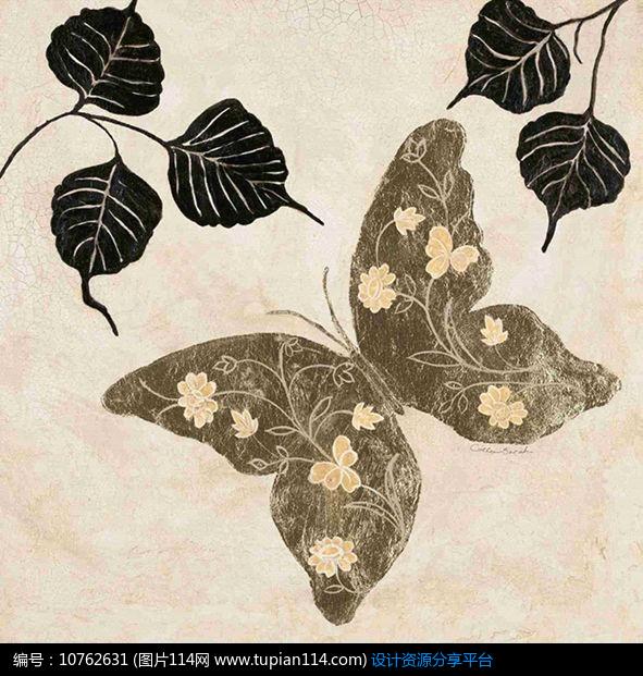简约欧美风格蝴蝶装饰画设计