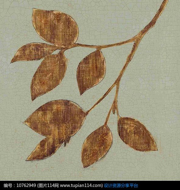 [原创] 欧式古典装饰画树叶设计模板图片