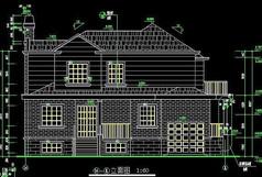欧式风格别墅14-1外观建筑立面图