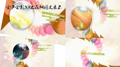 会声会影之花瓣婚礼图文展示模板
