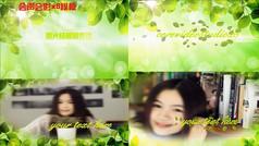 X8清新雅绿写真图文会声会影展示模板