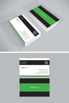黑绿色大气企业名片