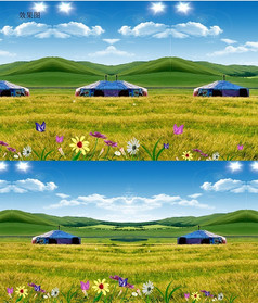 草原自然风景动态视频背景