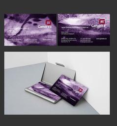 紫色水墨名片模板