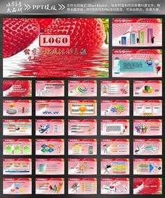 食品蔬果草莓美容ppt模板