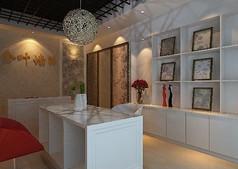 壁纸展厅设计3D模型素材资料