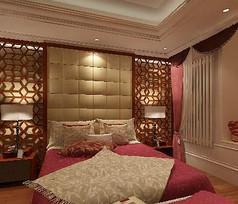 古典奢华风格主卧室模型素材资料
