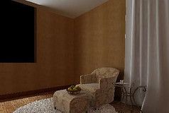 欧式休闲室3D设计模型素材资料