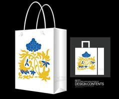 韩国韩式花纹环保袋