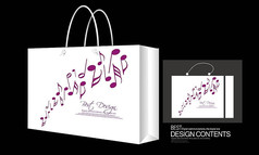 音乐音符手袋