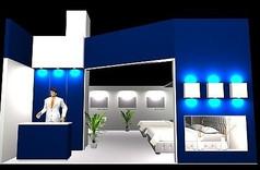 高档床具展厅设计3D模型素材