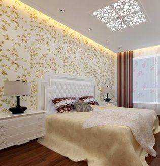 白色欧式主卧室装修设计3d模型素材