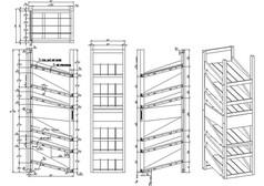 多层架子家具图纸CAD素材