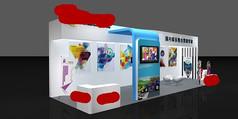 企业宣传展览展示设计3d模型