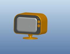 电视机3D模型