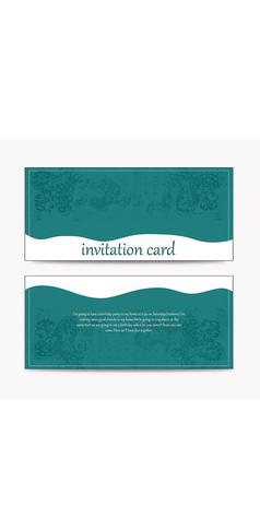 简约流动邀请卡