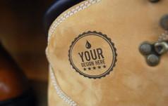 皮包饰品搭配logo样机