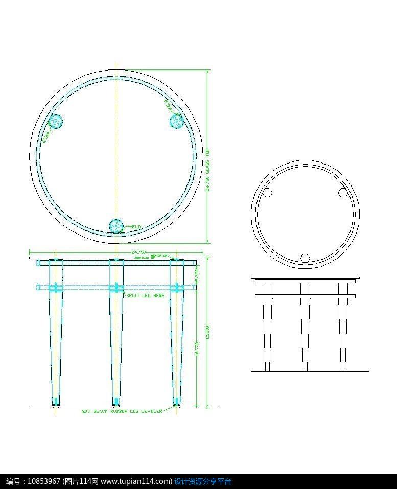 圆桌设计平面图