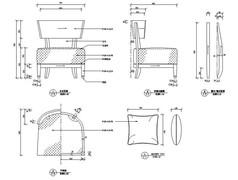 休闲椅家具CAD图纸