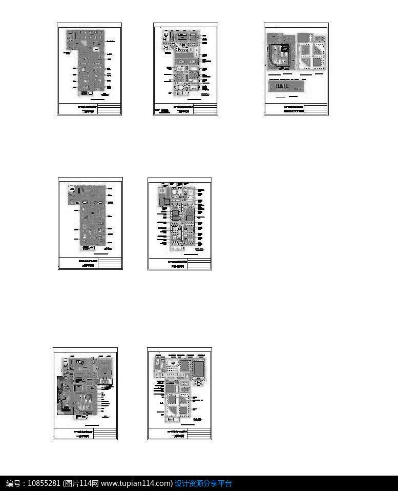 洗浴中心淋浴区墙面施工图 吊顶石膏线剖面尺寸图 茶餐厅咖啡厅施工图