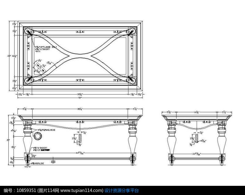 车积脚托直线图纸CAD素材上去cad不茶几盘式画已有图片