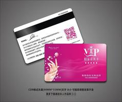创意美甲美容会所VIP会员卡