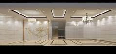 3D白色调简约客厅茶厅模型和效果图