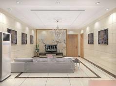 3D暖色调简约大厅模型和效果图