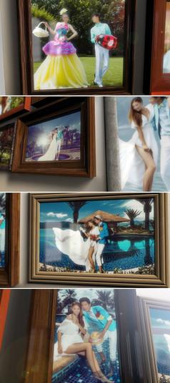 温馨照片墙家庭相册展示ae模板