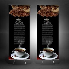 咖啡宣传展架